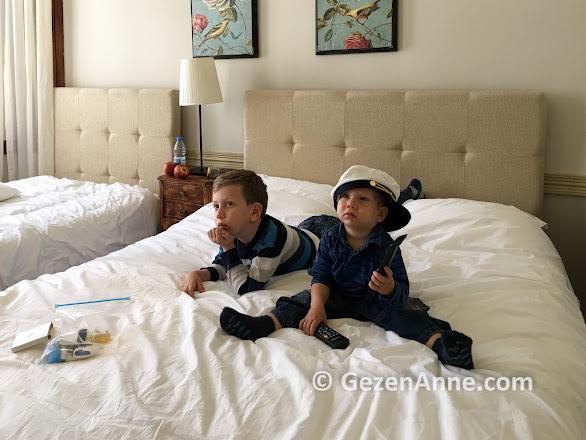 İki çocukla Macaron otel konaklamamız, Ayvalık