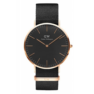 DANIEL WELLINGTON Men Classic Black CORNWALL 40mm
