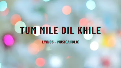 Lyrics of Tum Mile Dil Khile - Musicaholic