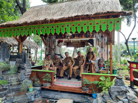 Rumah Khas Betawi Lengkapi Areal Walkot Form 4.0 di Kantor Wali Kota Jakarta Barat