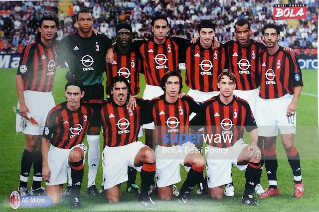 Poster Tim AC Milan
