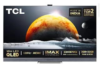 TCL C825 series 4K mini LED TV