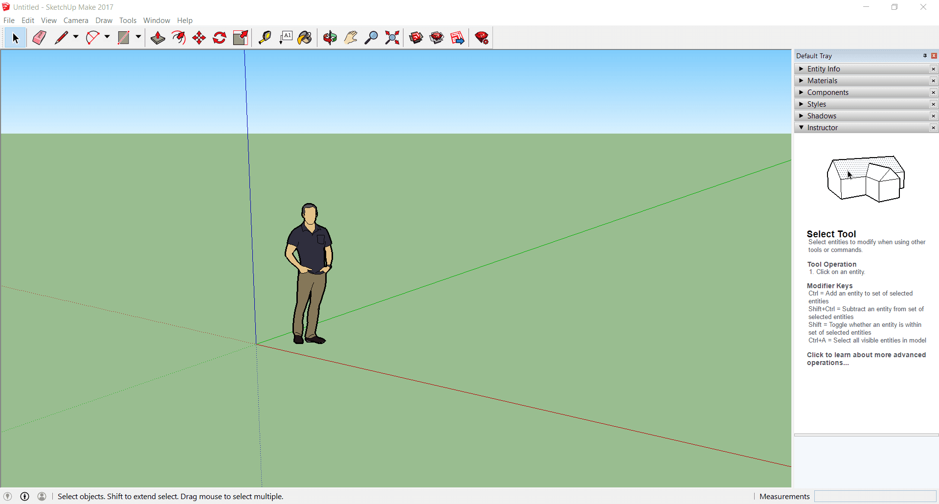 SketchUp Make Main Interface Screenshot
