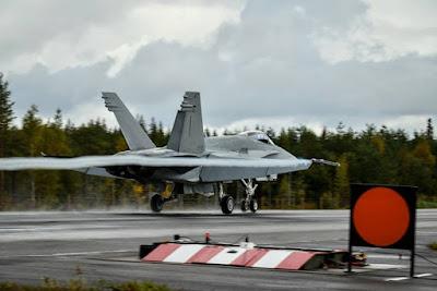 Finnish Hornet exercise public road