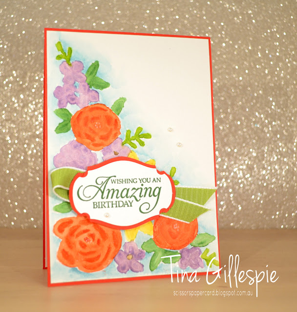 scissorspapercard, Stampin' Up!, Art With Heart, Colour Creations, Humming Along, Springtime Impressions Thinlits, Embossing Mats, Die Embossed Watercolouring, Story Label Punch