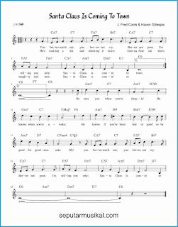 chord santa claus is comin' to town lagu jazz standar
