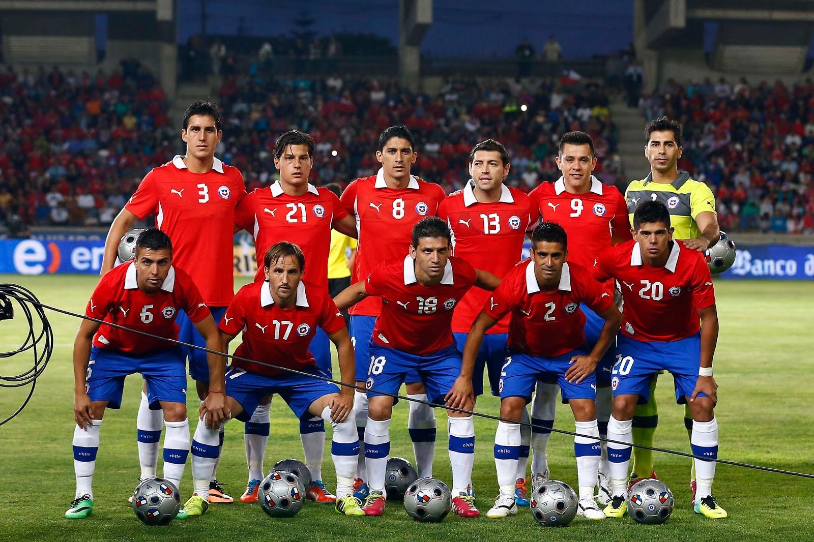 Formación de Chile ante Costa Rica, amistoso disputado el 22 de enero de 2014