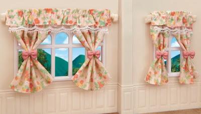 Игровые наборы Calico Critters 2019 лампы и шторы Wall Lamps Curtains