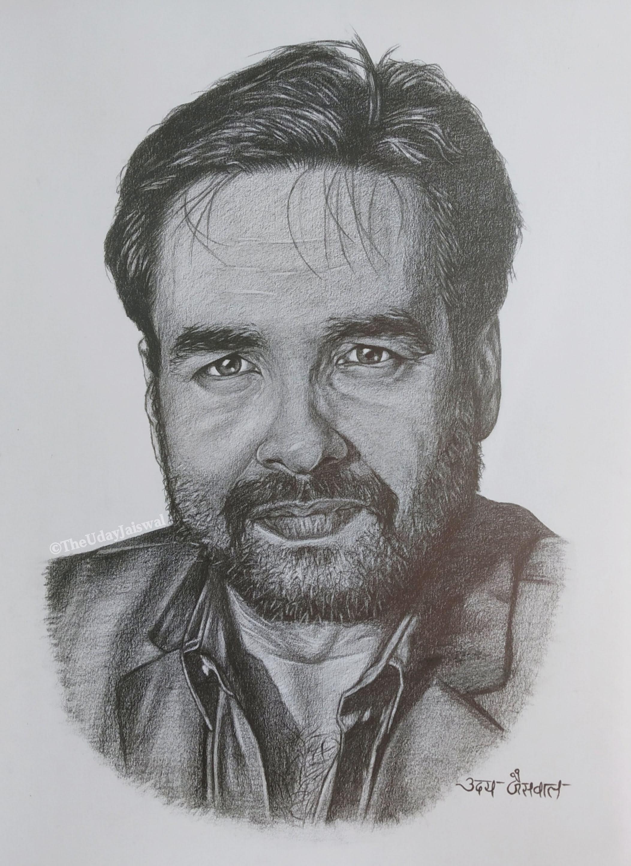 Mr. Pankaj Tripathi Realistic Pencil Sketch