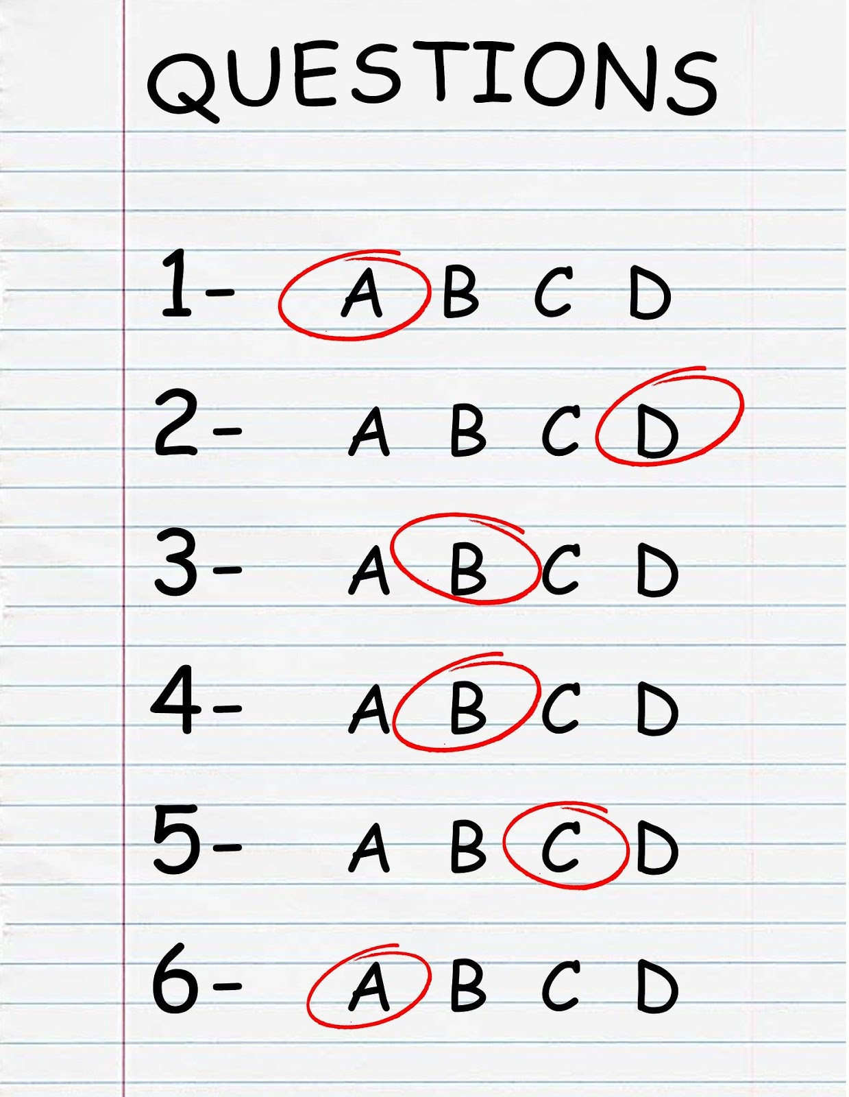 a simple looking multiple choice test