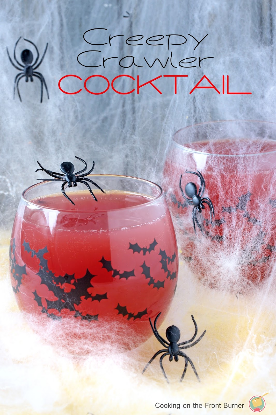 Creepy Crawler Cocktail from Cooking on the Front Burner featured at Saturday Night Fever