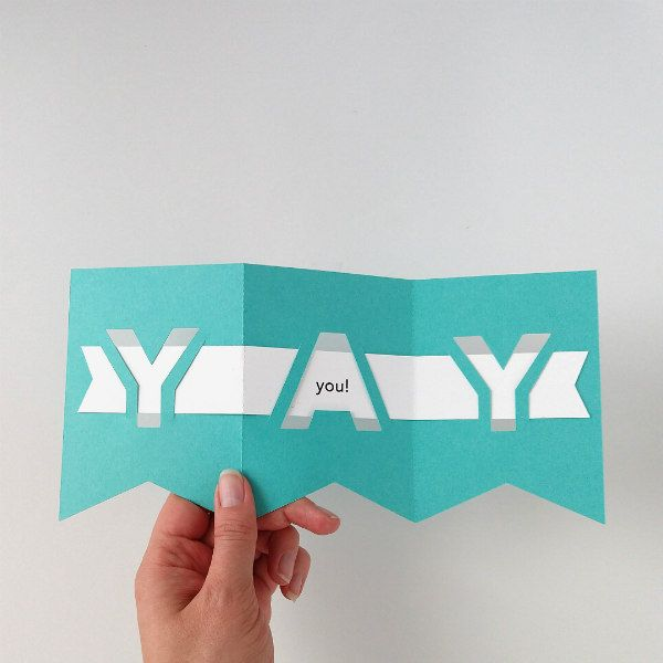 papercut Yay interactive greeting card