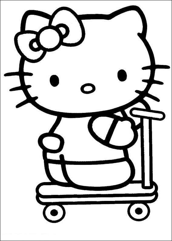 Desenhos Da Hello Kitty Para Pintar Colorir Imprimir Moldes E