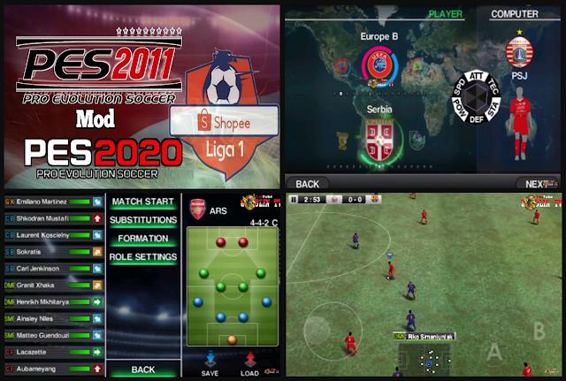 Anda jangan lupa untuk Unduh juga file  Download PES 2011 Lite V2 All League Update Season 2019/2020