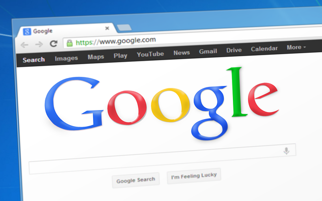 membuka alamat web di google chrome
