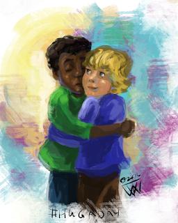 Hug a Day Traci Van Wagoner Art