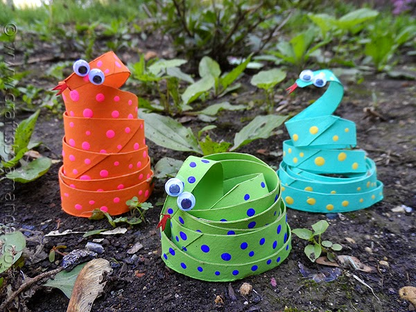 ekoDziecko.com: Węże z rolki po papierze toaletowym