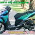 Sơn xe máy Vario 150 màu titan lục bảo cực đẹp