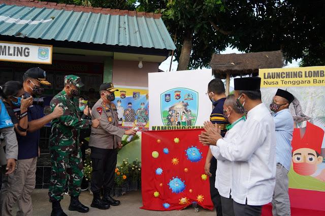 Launching Lomba Kampung Sehat 2020, Polda NTB Target Empat Mitigasi Pandemi Covid-19
