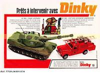 Publicités Dinky Toys de l'année 1974