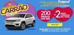 Promoção Personal 2019 - 2 Jeeps e Centenas Prêmios Todo Mês
