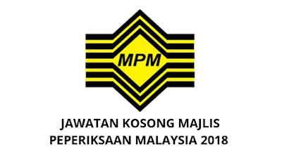 Jawatan Kosong Majlis Peperiksaan Malaysia 2018 MPM