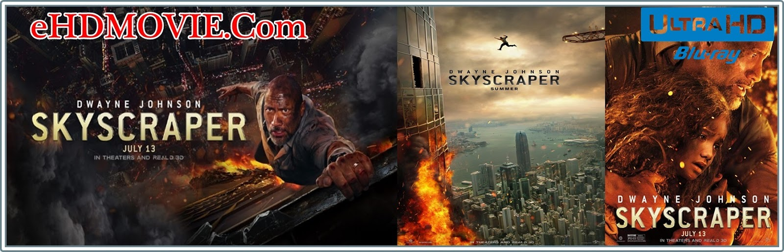 Skyscraper 2018 Full Movie Dual Audio [Hindi – English] 1080p - HEVC - 720p - 480p ORG BRRip 350MB - 500MB - 1GB - 2.2GB ESubs Free Download