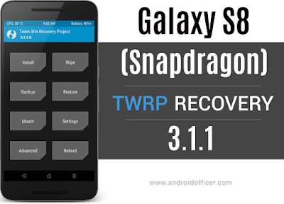 TWRP recovery for Galaxy S8 Snapdragon