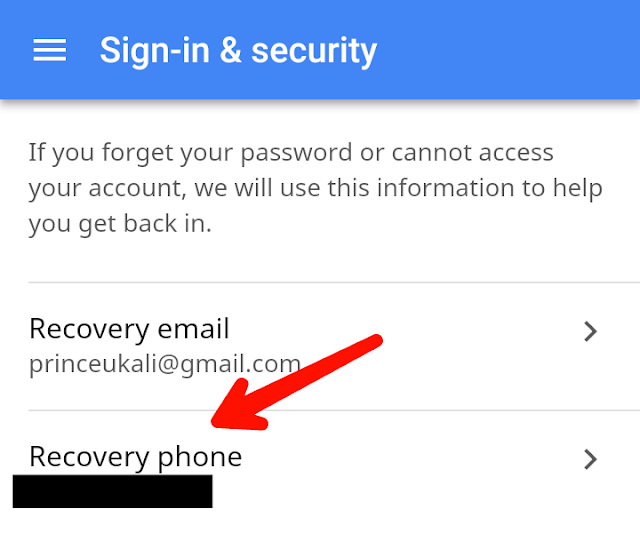 How to change Gmail account mobile number