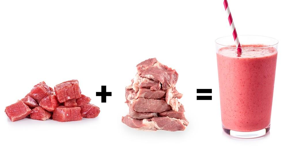 Fleischindustrie stellt ersten Schweine-Rinder-Smoothie vor