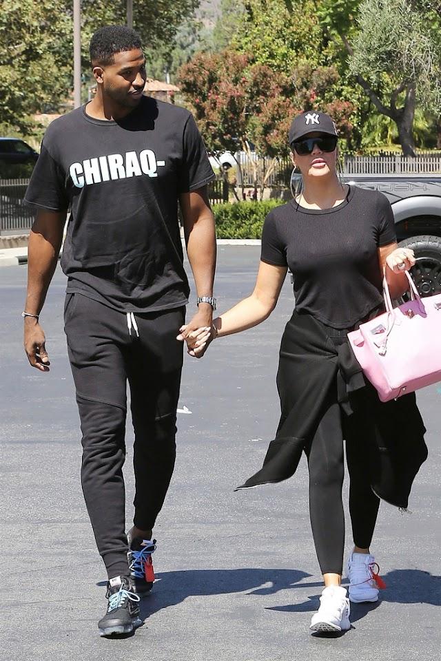 Khloe Kardashian e Tristan Thompson vão ver 'White Boy Rick' no domingo à tarde juntos