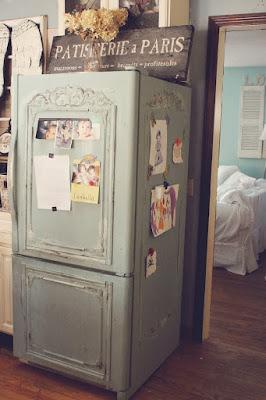 come realizzare un frigorifero in stile shabby