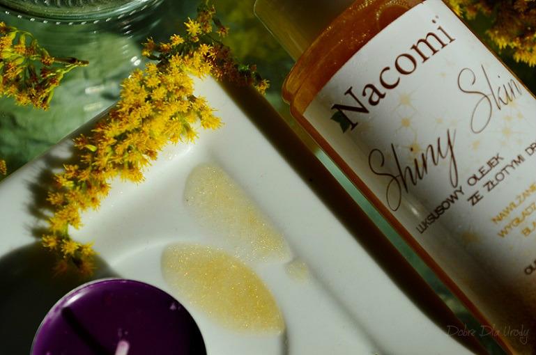Nacomi kosmetyki naturalne- naturalna pielęgnacja ciała - Luksusowy olejek ze złotymi drobinami