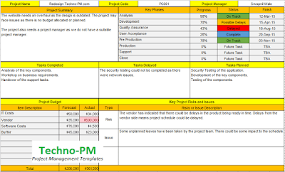excel status report, project status report template excel, project update template