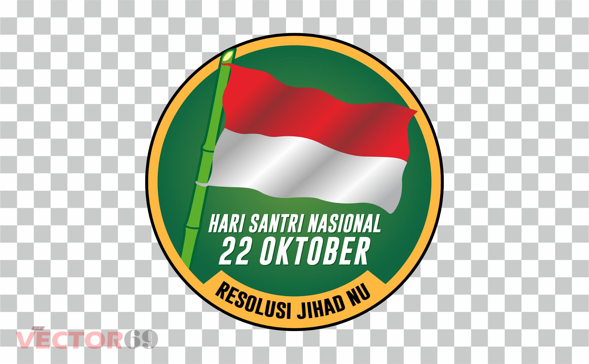 Resolusi Jihad NU, Hari Santri Nasional Logo - Download Vector File PNG (Portable Network Graphics)