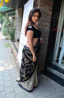 Neetu Chandra in Black Saree at Designer Sandhya Singh Store Launch Mumbai (71).jpg