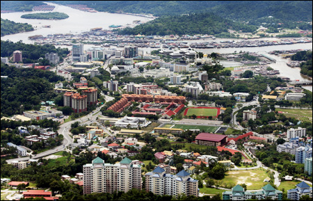 Peta Kota Bandar Seri Begawan - Brunei Darussalam.  |Bandar Seri Begawan Brunei Darussalam