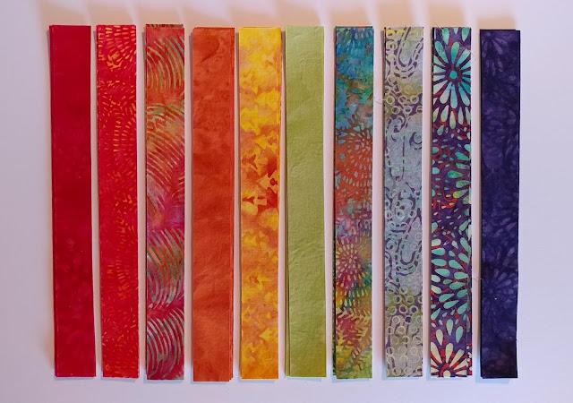 A rainbow of Island Batik fabrics