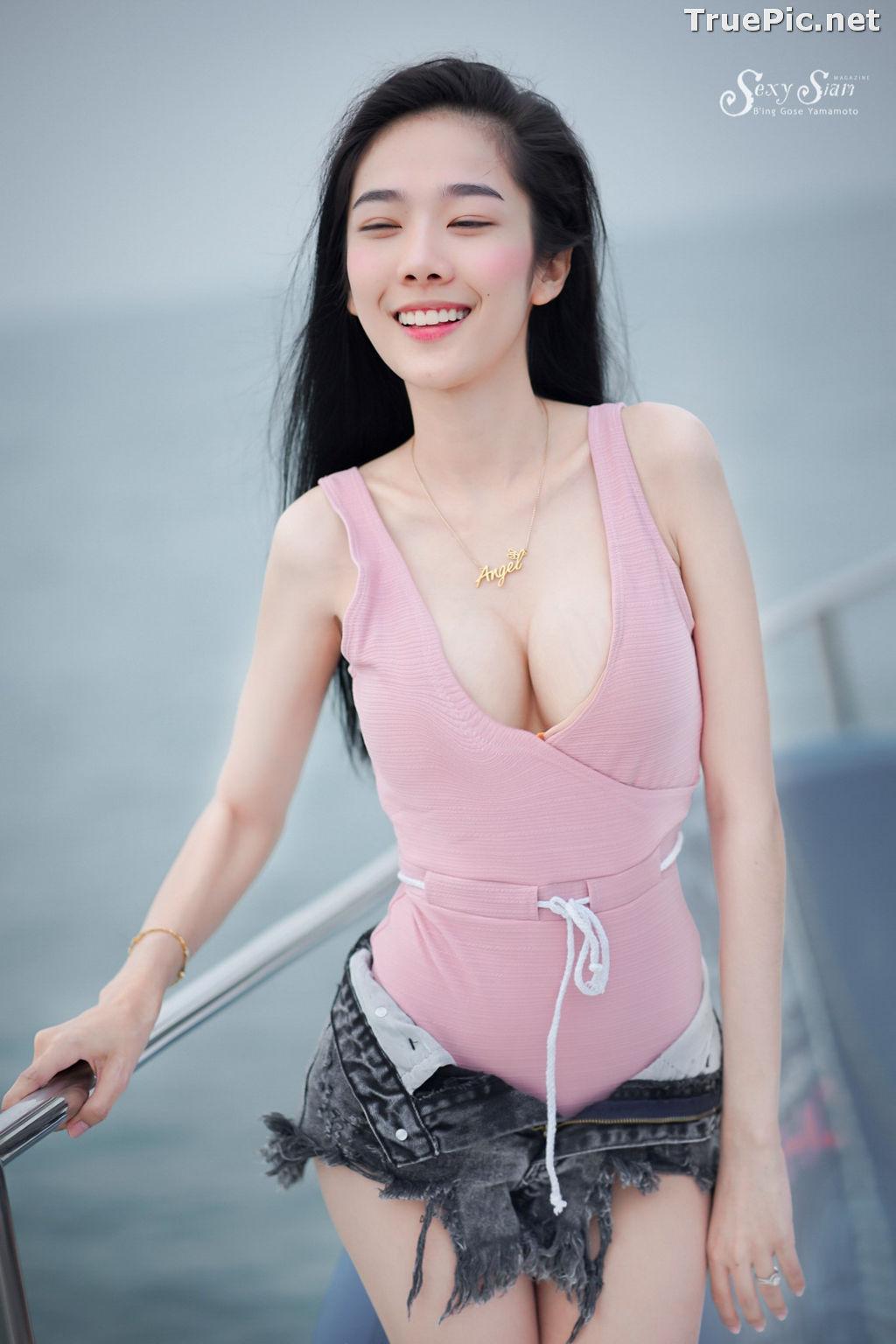 Image Thailand Model - Patcharin Srikunchai - Pink Monokini and Jean Pants - TruePic.net - Picture-7