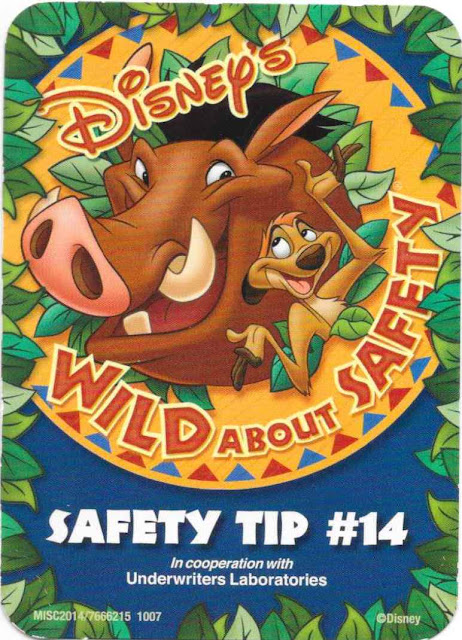 Disney Wild About Safety Card Number 14
