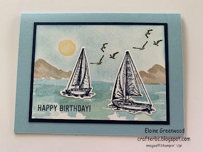 Stampin' Up! Sailing Home Bundle meets Waterfront Stamp Set