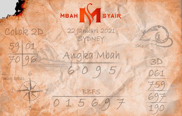 Kode Syair Sydney 22 Januari 2021 Hari Jumat