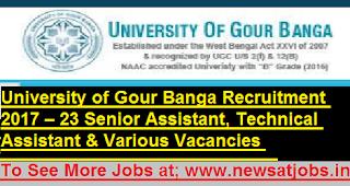 Gour-Banga-University-23-Assistant-vacancies