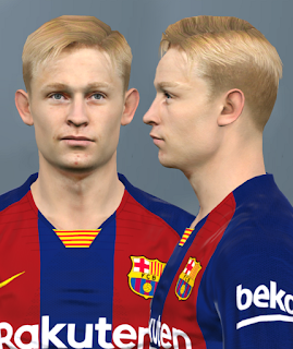 PES 2017 Faces Frenkie de Jong by Alief