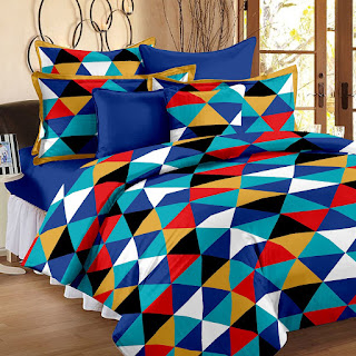 100% Cotton Yellow 1 Double Bedsheet With 2 Pillow Cover