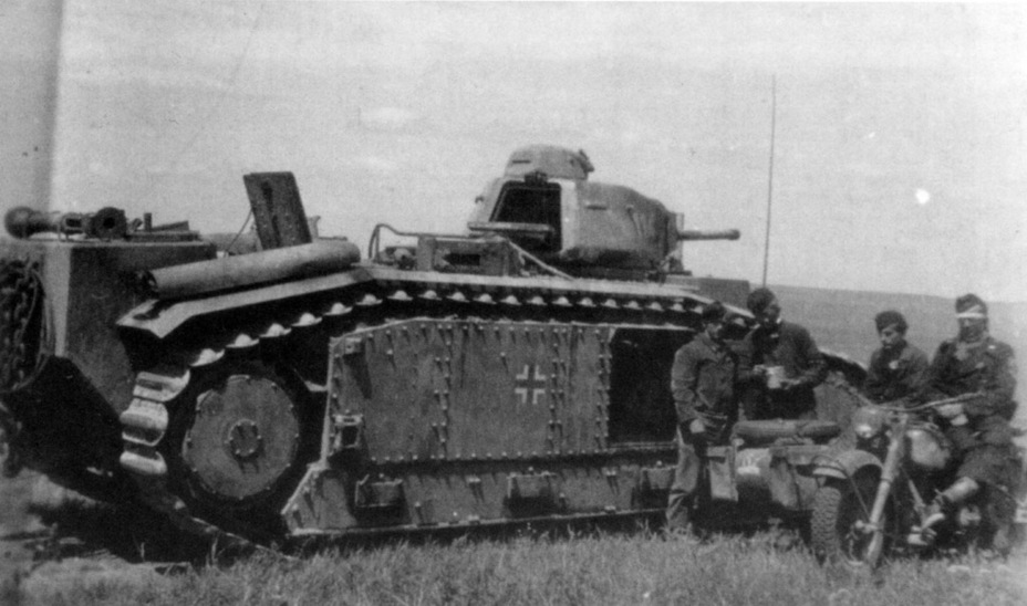 Image result for char b1 tank in german service sevastopol""
