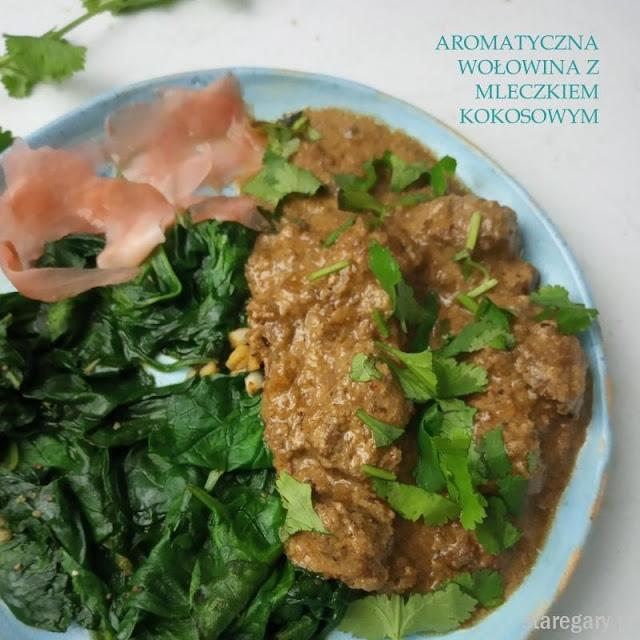 Aromatyczna wołowina z mleczkiem kokosowym z  wolnowaru
