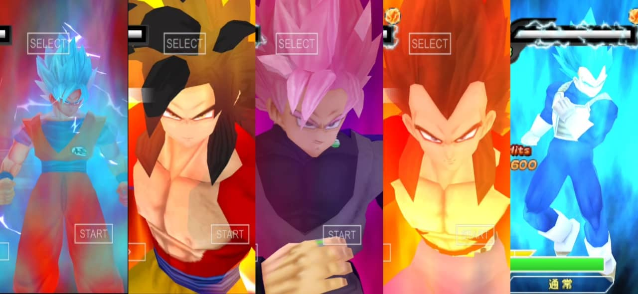 Goku and Vegeta all forms and Transformation