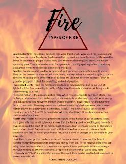 Elemental magic, fire magic, tools of fire, types of fire, fire witchcraft, fire witch, witchcraft, elements, fire