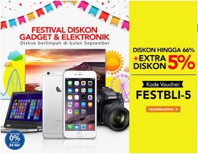 September, Bulan Penuh Diskon Festival Gadget dan Elektronik di Blibli.com